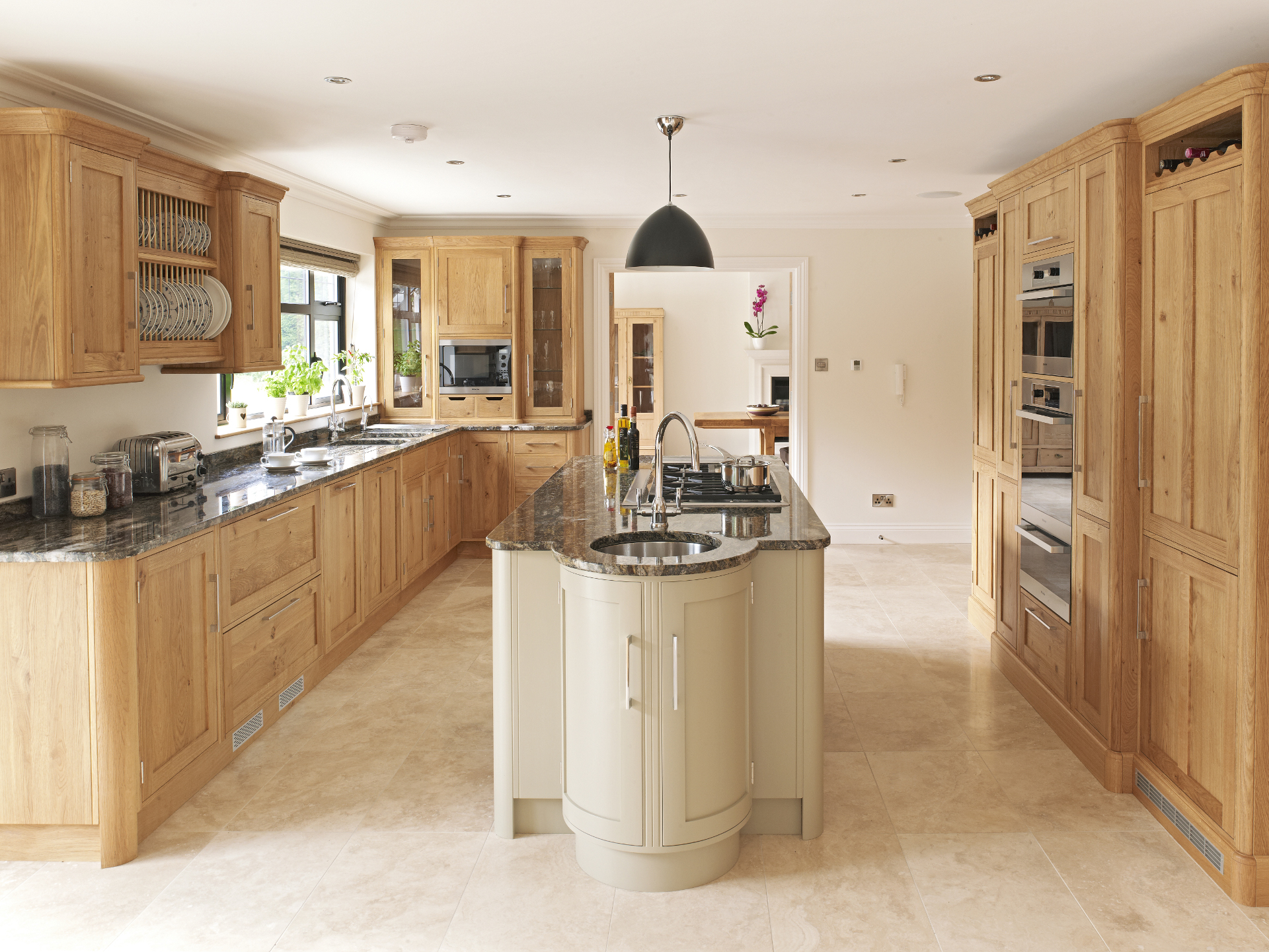 Classic oak and painted rencraft for Classic timeless kitchen designs